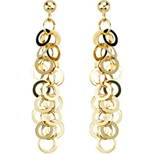 """17"""" 14k Yellow Gold Necklace with Matching Earrings"""