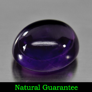 Genuine 100% Natural Cabochon Amethyst 12.41ct 15.0 x 12.5mm Oval Semi Transparent