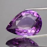 Genuine 100% Natural Amethyst 8.24ct 17.6 x 12.7mm Pear IF Clarity