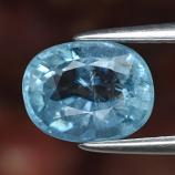 Genuine 100% Natural Blue Aquamarine 1.33ct 7.6 x 6.0 Oval SI1 Clarity