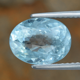 Genuine 100% Natural Blue Aquamarine 2.96ct 10.6 x 8.0 Oval VS Clarity