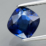 Genuine 100% Natural Blue Sapphire 1.30ct 6.50 x 6.15mm Cushion Cut SI1 Clarity (Certified)