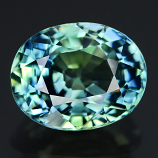 Genuine 100% Natural Bluish Green Sapphire 1.82ct 7.6 x 6.0mm Oval VS1 Clarity (Certified)