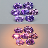 Genuine 100% Natural Color Change Sapphires (7) 2.05cts 3.3 to 5.3mm VS Clarity