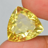 Genuine 100% Natural Yellow Citrine 17.40ct 18.6 x 17.6mm Trillion/Trilliant IF Clarity