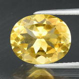 Genuine 100% Natural Citrine 3.88ct 12.0 x 10.0mm Oval VS Clarity