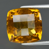 Genuine 100% Natural Yellow Citrine 7.05ct 12.0 x 12.0 Antique Cut VVS Clarity