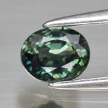 Genuine Bluish Green Sapphire 0.56ct 5.0 x 4.2mm Oval IF Clarity