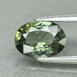 Genuine 100% Natural Green Sapphire .80ct 6.8 x 5.0mm Oval SI1 Clarity