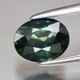 Genuine Green Sapphire .93ct 6.6 x 5.2mm Oval VVS Clarity