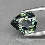 Genuine 100% Natural Green Sapphire 1.12ct 6.6 x 5.5mm Pear SI1 Clarity