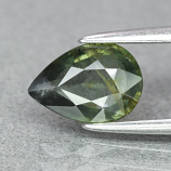 Genuine 100% Natural Green Sapphire 1.14ct 8.0 x 5.7mm Pear SI1 Clarity