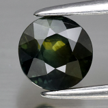 Genuine 100% Natural Green Sapphire 1.14ct 5.6 x 5.6mm Round Cut SI1 Clarity