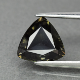 Genuine 100% Natural Green Sapphire 1.18ct 7.0 x 6.8mm Trillion/Trilliant Cut SI1 Clarity