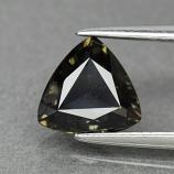 Genuine 100% Natural Green Sapphire 1.18ct 7.0 x 6.8mm Trillion/Trilliant Cut SI1 Clarity