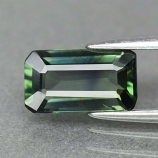 Genuine 100% Natural Bluish Green Sapphire 1.29ct 8.2 x 4.6mm Octagon VS Clarity