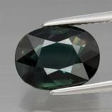 Genuine Bluish Green Sapphire 3.44ct 10.0 x 7.8mm Oval VVS Clarity