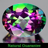 Genuine Mystic Green Topaz 2.14ct 9.0 x 6.9mm Oval VVS Clarity
