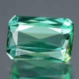 Genuine 100% Natural Green Tourmaline 1.21ct 7.2 x 5.0mm Octagon VS1 Clarity