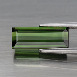 Genuine 100% Natural Green Tourmaline 1.69ct 11.0 x 4.5mm Baguette Cut IF Clarity