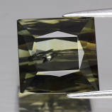 Genuine 100% Natural Green Tourmaline 8.11ct 10.6 x 10.2mm Square Baguette SI1 Clarity