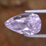 Genuine 100% Natural Kunzite 4.13ct 11.8 x 10.0mm Pear VVS Clarity