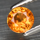 Genuine Orange Sapphire .51ct 4.8 x 4.8mm Round Cut SI1 Clarity
