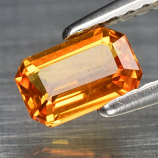Genuine Orange Sapphire .65ct 6.0 x 4.0mm Octagon SI1 Clarity