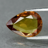 Genuine Orange Sapphire .71ct 7.0 x 5.0mm Pear SI1 Clarity