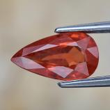 Genuine Orange Sapphire 1.21ct 9.0 x 5.0mm Pear SI1 Clarity