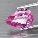 Genuine 100% Natural Pink Sapphire .64ct 6.8 x 4.6mm Pear SI1 Clarity