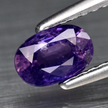 Genuine 100% Natural Purple Sapphire .69ct 6.0 x 4.0m Oval SI1 Clarity