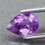 Genuine 100% Natural Purple Sapphire 0.85ct 6.5 x 4.8mm Pear SI1 Clarity