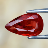 Genuine Red Sapphire 1.08ct 8.6 x 5.3mm Pear SI2 Clarity