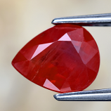 Genuine Reddish Orange Sapphire 1.67ct 8.0 x 6.4mm Pear SI2 Clarity
