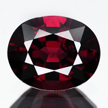 Genuine 100% Natural Rhodolite Garnet 3.47ct 10.2 x 8.2mm Oval VS1 Clarity