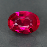 Genuine 100% Natural Ruby .53ct 5.8 x 4.1mm Oval SI2 Clarity
