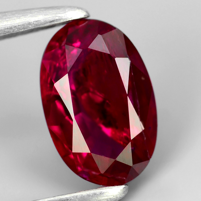 Certified Ruby .54ct 6.04 x 3.96mm Oval SI2 Clarity