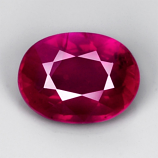 Genuine 100% Natural Ruby 1.00ct 6.7 x 5.0mm Mozambique SI1