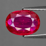 Genuine RUBY 1.34ct 8.0 x 5.9mm Oval SI2 Clarity