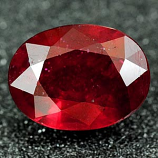 Genuine RUBY 1.68ct 7.9 x 6.1mm Oval SI1 Clarity