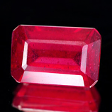 Genuine RUBY 2.18ct 8.5 x 5.5mm Octagon SI1 Clarity