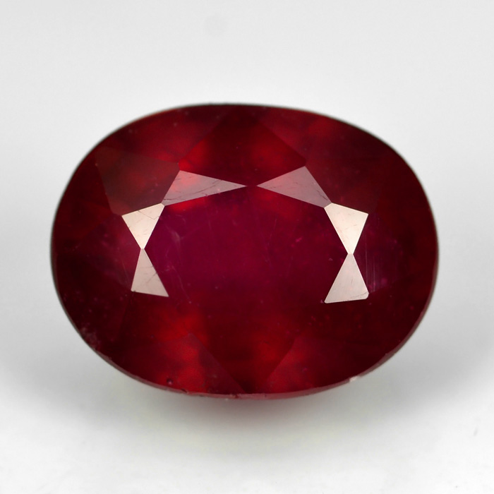 Genuine Ruby 2.22ct 7.98 x 6.11mm Oval I1 Clarity (Certified)