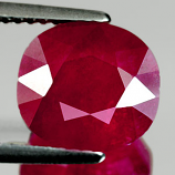 Genuine RUBY 4.85ct 9.8 x 9.0mm Oval SI1 Clarity