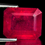Genuine RUBY 7.44ct 11.0 x 8.9mm Octagon SI1 Clarity