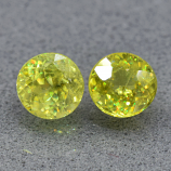 Genuine 100% Natural (2) Sphene 0.82ct 4.4 x 4.4mm SI1 Clarity