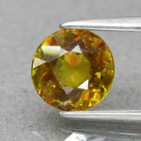 Genuine 100% Natural Sphene .85ct 6.0 x 6.0mm Round Cut SI1 Clarity