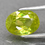 Genuine 100% Natural Sphene 0.89ct 7.0 x 5.2mm Oval VS Clarity
