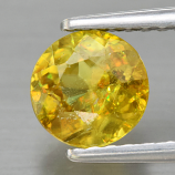 Genuine 100% Natural Sphene 0.93ct 6.0 x 6.0mm Round Cut SI1 Clarity