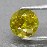Genuine 100% Natural Sphene .96ct 5.8 x 5.8mm Round Cut SI1 Clarity